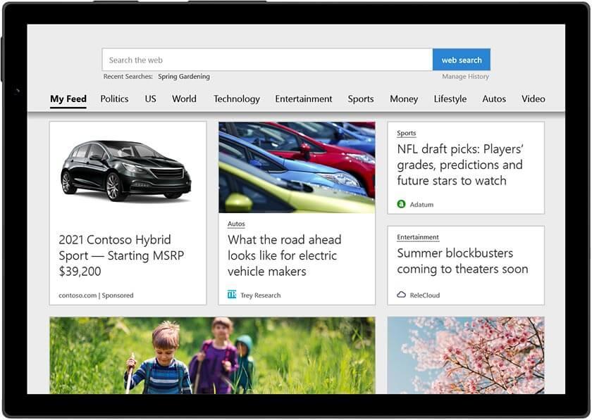 Microsoft Advertising Produktanzeigen im Microsoft Audience Network MSAN als native Anzeigen